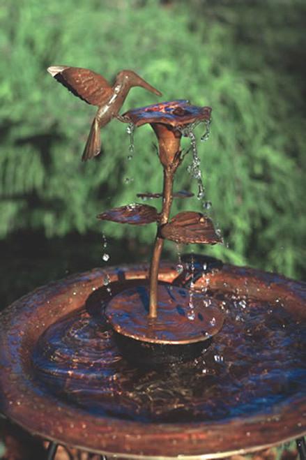ANCIENT GRAFFITI - Hummingbird - Metal Sculpture Water Dripper Fountain (for Bird Bath) Copper (ANCIENTAG940HB) 638071771231