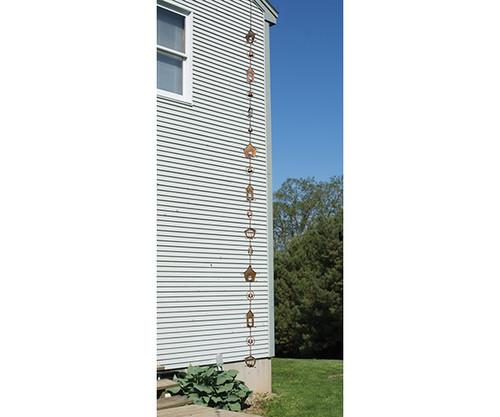 ANCIENT GRAFFITI - Birdhouse Flamed Metal Rain Chain ANCIENTRCBRDHSE 638071786716
