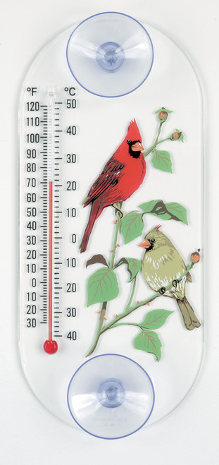 ASPECTS - Cardinal Pair Art Design Window Thermometer with Suction Cups (ASPECTS062) 026451111058
