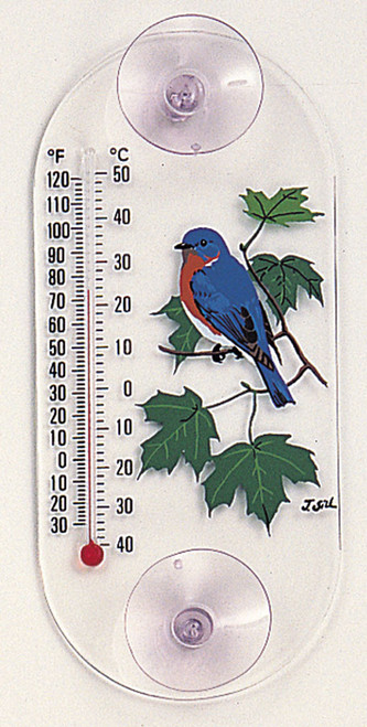 ASPECTS - Bluebird & Maple Art Design Window Thermometer with Suction Cups (ASPECTS203) 026451101516