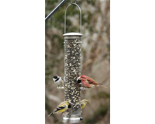 ASPECTS - Thistle Tube Bird Feeder - Small Antique Brass Quick Clean Base (ASPECTS401) 026451124010