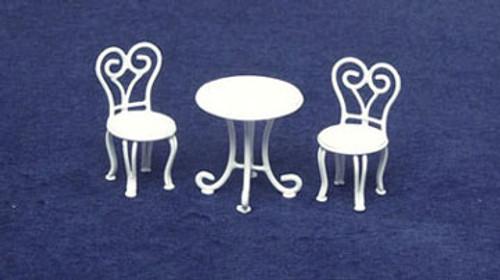 "AZTEC - Half Scale (1/2"" Scale) Dollhouse Miniature - White Wire Ice Cream Parlor 3 Piece Set (AZEIWF444) 717425604446"