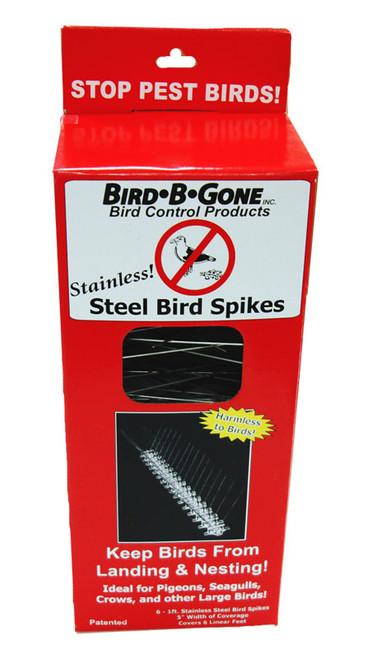 BIRD B GONE INC. - Stainless Steel Bird Spikes 6 ft (Landing / Nesting Deterrent) (BBGMM200156) 764176050619