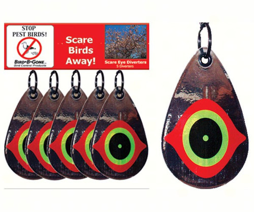 BIRD B GONE INC. - Scare Eye Diverters set of 5 (BBGMMSED5) 764176050053