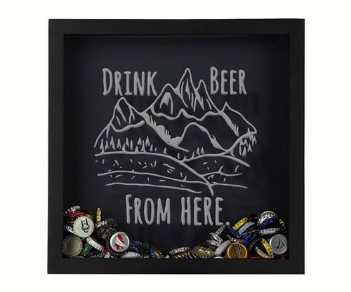 BEER CAP TRAPS - Shadow Box Rocky Mountain - Beer Cap Collector's Trap BCSHADBOXDWFHRT 4872193195735
