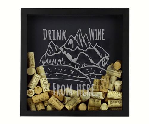 BEER CAP TRAPS - Rocky Mountain - Wine Cork & Beer Cap Holder Shadow Box BCSHADBOXROCKMT 4872193195742