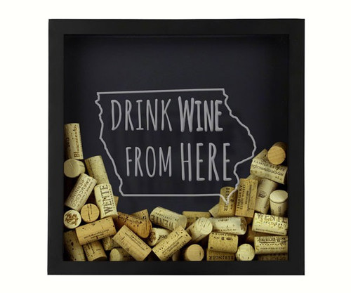 BEER CAP TRAPS - Iowa - Wine Cork & Beer Cap Holder Shadow Box BCSHADBOXWBFHIA 4872193195766