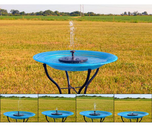 BACKYARD ESSENTIALS - Floating Solar Birdbath Bubbler (BE300) 645194779082