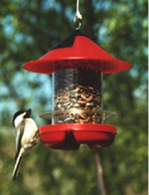 BECKS - Beck's Chickadee Bird Feeder - RED (BECKSCKDRED) 079023000052