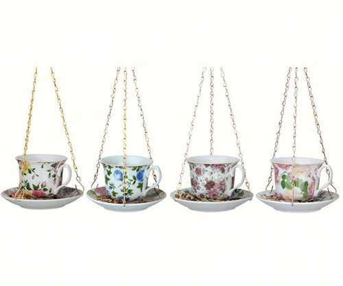 BEST FOR BIRDS - Tea Cup with Saucer Bird Feeder - Set of 4 (BFBFB240) 871498207287