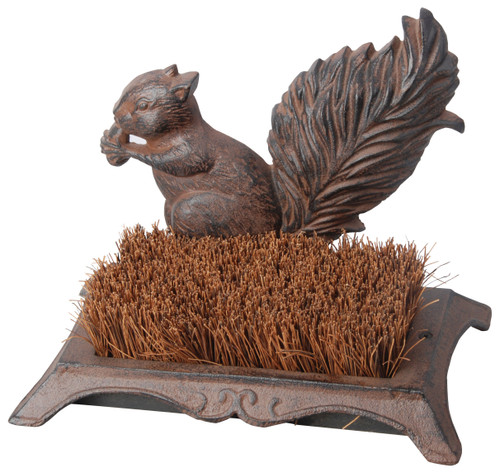 BEST FOR BIRDS - Boot Brush Scraper with Squirrel - Cast Iron (BFBLH67) 8714982013577