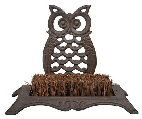BEST FOR BIRDS - Owl Boot Brush Antique Brown (BFBTT192) 8714982093111