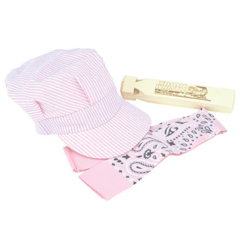 Brooklyn Peddler L'il Train Engineer Hat Whistle & Scarf Set Pink (00010) 699006000109