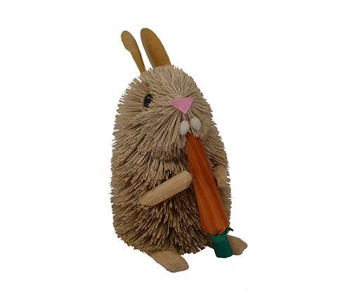 BRUSHART - Rabbit with Carrot Brush Figurine (BRUSH0173) 645194202801