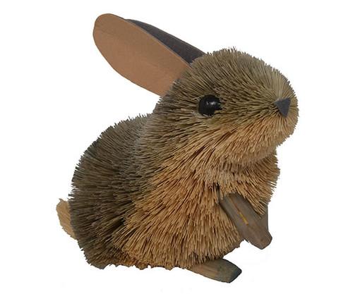 BRUSHART - 10 inch Rabbit Brush Figurine (BRUSH0174L) 645194200197