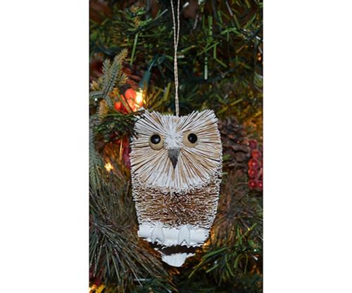 BRUSHART - Snow Owl Ornament (BRUSHOR15F) 645194203105