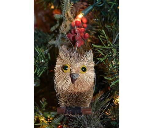 BRUSHART - 3 inch Owl Long Eared Grey Ornament (BRUSHOR15G) 645194200647