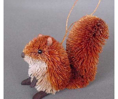 BRUSHART - Squirrel Red (Christmas) Ornament 013002300009
