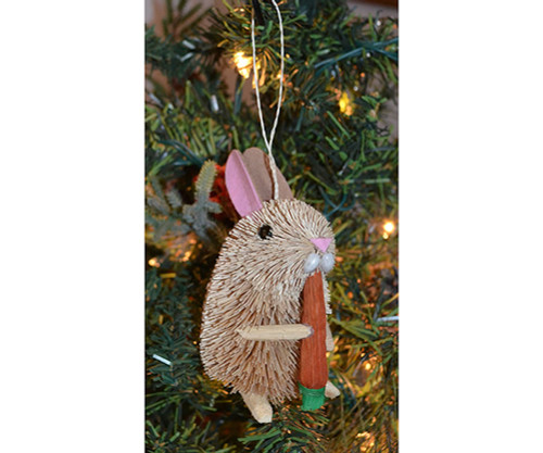 BRUSHART - Rabbit with Carrot Ornament (BRUSHOR73) 645194202818