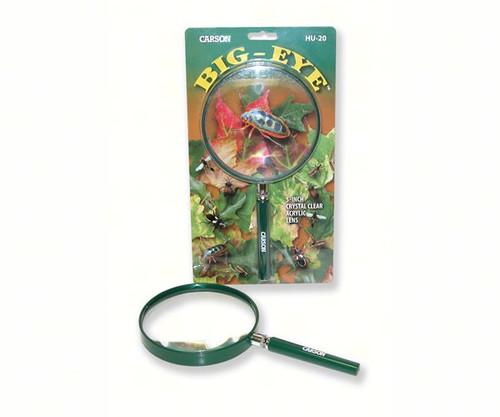 CARSON OPTICAL - 2.5x (5 inch) Acrylic Hand Magnifier Glass Outdoor Green CARSONHU20 750668005106
