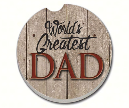 COUNTER ART - World's Greatest Dad - Car Coaster CART08461 073143084619