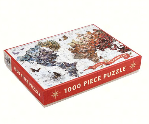 CHRONICLE BOOKS - Wendy Gold Butterfly Migration 1000 Piece Jigsaw Puzzle (CB9780735340084) 9780735340084