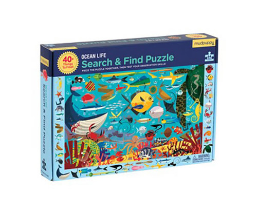 CHRONICLE BOOKS - Ocean Life Search and Find 64 Piece Jigsaw Puzzle (CB9780735351974) 9780735351974