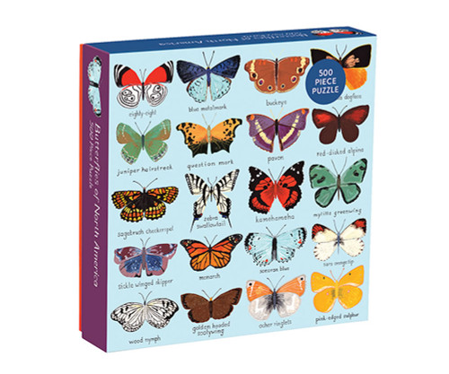 CHRONICLE BOOKS - Butterflies of North America 500 Piece Jigsaw Puzzle (CB9780735353237) 9780735353237