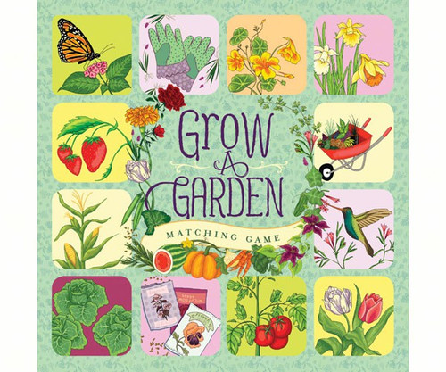 CHRONICLE BOOKS - Grow A Garden Matching Game (CB9781452114576) 9781452114576