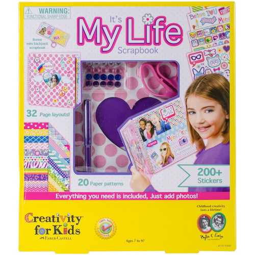 CREATIVITY FOR KIDS - It's My Life Scrapbook Kit- (1011000) 092633101100