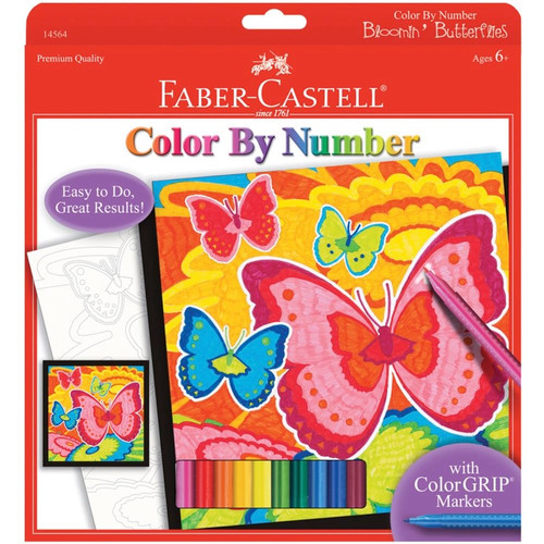 """CREATIVITY FOR KIDS - Color By Number Kit 9""""X9""""-Bloomin' Butterflies (145-64) 092633703465"""