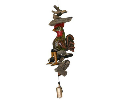 COHASSET GIFTS - Lucky Rooster Bell Wind Garden Chimes (CH611) 831596001825