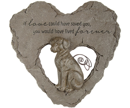 CARSON HOME ACCENTS - Dog Devoted Angel Stepping Stone (Memory) (CHA10039) 096069100393