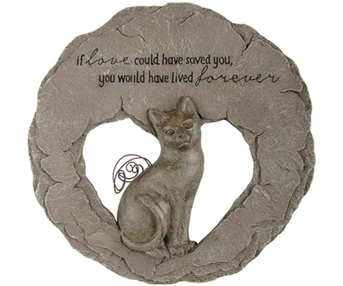 CARSON HOME ACCENTS - Cat Devoted Angel Stepping Stone (Memory) (CHA10040) 096069100409