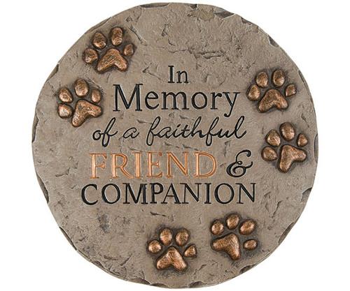 CARSON HOME ACCENTS - Decor Stepping Stone Friend and Companion Memory CHA11134 096069111344