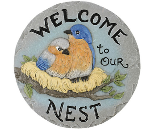 CARSON HOME ACCENTS - Decor Stepping Stone Welcome to Nest (CHA11148) 096069111481