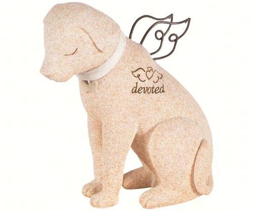 CARSON HOME ACCENTS - Dog Figurine Faithful Angel Pet Memory Stone Stauary CHA14211 096069142119