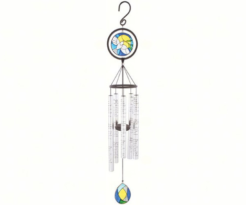 CARSON HOME ACCENTS - Amazing Grace (Decorated Design) - 35 inch Stained Glass Sonnet Wind Chime CHA60376 096069603764