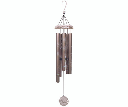 CARSON HOME ACCENTS - Amazing Grace 40 inch Vintage White Wind Chime (CHA62739) 096069627395