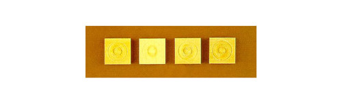 CLASSICS - 1 Inch Scale Dollhouse Miniature - Small Corner Block 4 pcs (CLA70265) 731851702651