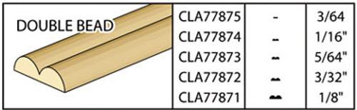 "CLASSICS - Dollhouse 1/8"" Double Bead 1"" Scale Dollhouse Miniature CLA77871 731851778717"
