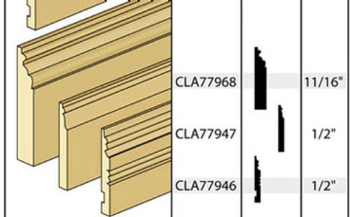 CLASSICS - 1 Inch Scale Dollhouse Miniature - Baseboard Molding Style M04 (CLA77968) 731851779684