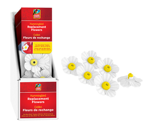 CLASSIC BRANDS - White Flower Replacements (10 pack) for HummingBird Feeder (CLASSIC38570) 617313385702