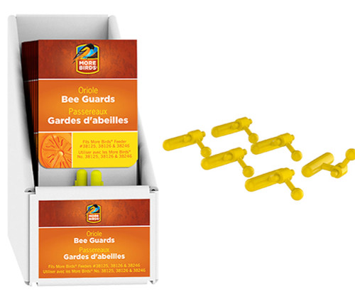 CLASSIC BRANDS - Yellow Oriole Bee Guard Replacements (10 pack) for Bird Feeder (CLASSIC38571) 617313385719