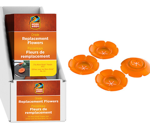 CLASSIC BRANDS - Oriole Bee Guards (4 pack) for Bird Feeder (CLASSIC502) 815562015023