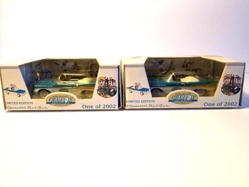 GEARBOX-2500 Limited Edition 2002 International Toy Fair Miniature DieCast 1957 Chevy Bel Air Pedal Cars (Set 2) - NIB