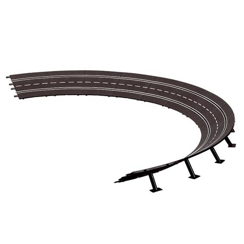 CARRERA - 4/15 High Banked Curve Slot Car Track (12) (1:32 & 1:24 Scale) (20579) 4007486205796