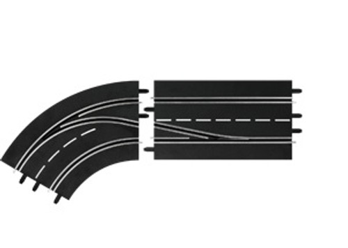 CARRERA - 1:32 Scale Digital Lane Change Curve Left In to Out Slot Car Switch Track (30362) 4007486303621