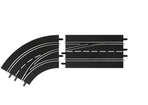 CARRERA - 1:32 Scale Digital Lane Change Curve Left Out to In Slot Car Switch Track (30363) 4007486303638