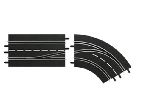 CARRERA - 1:32 Scale Digital Lane Change Curve Right In to Out Slot Car Switch Track (30364) 4007486303645